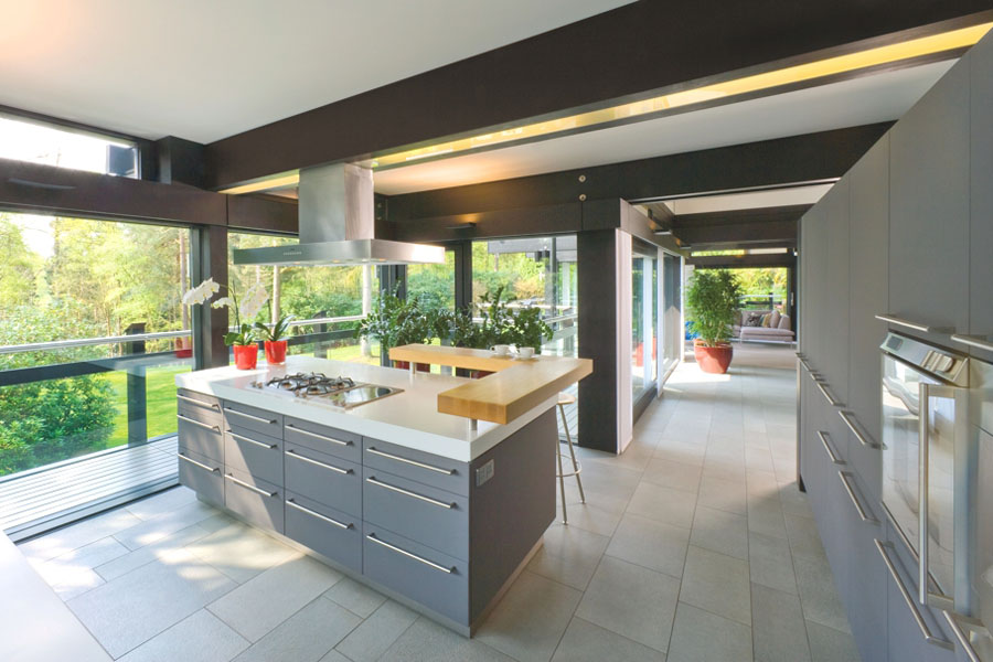 Sustainable Post And Beam Prefab Chic Modern Home By Huf Haus Idesignarch Interior Design Architecture Interior Decorating Emagazine