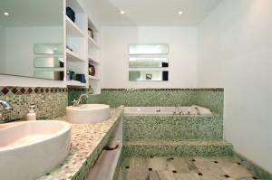 Green Mosaic Bathroom