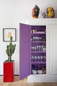 Purple Cabinet Cupboard