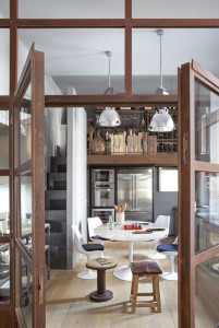 Modern Kitchen with Rustic Touch