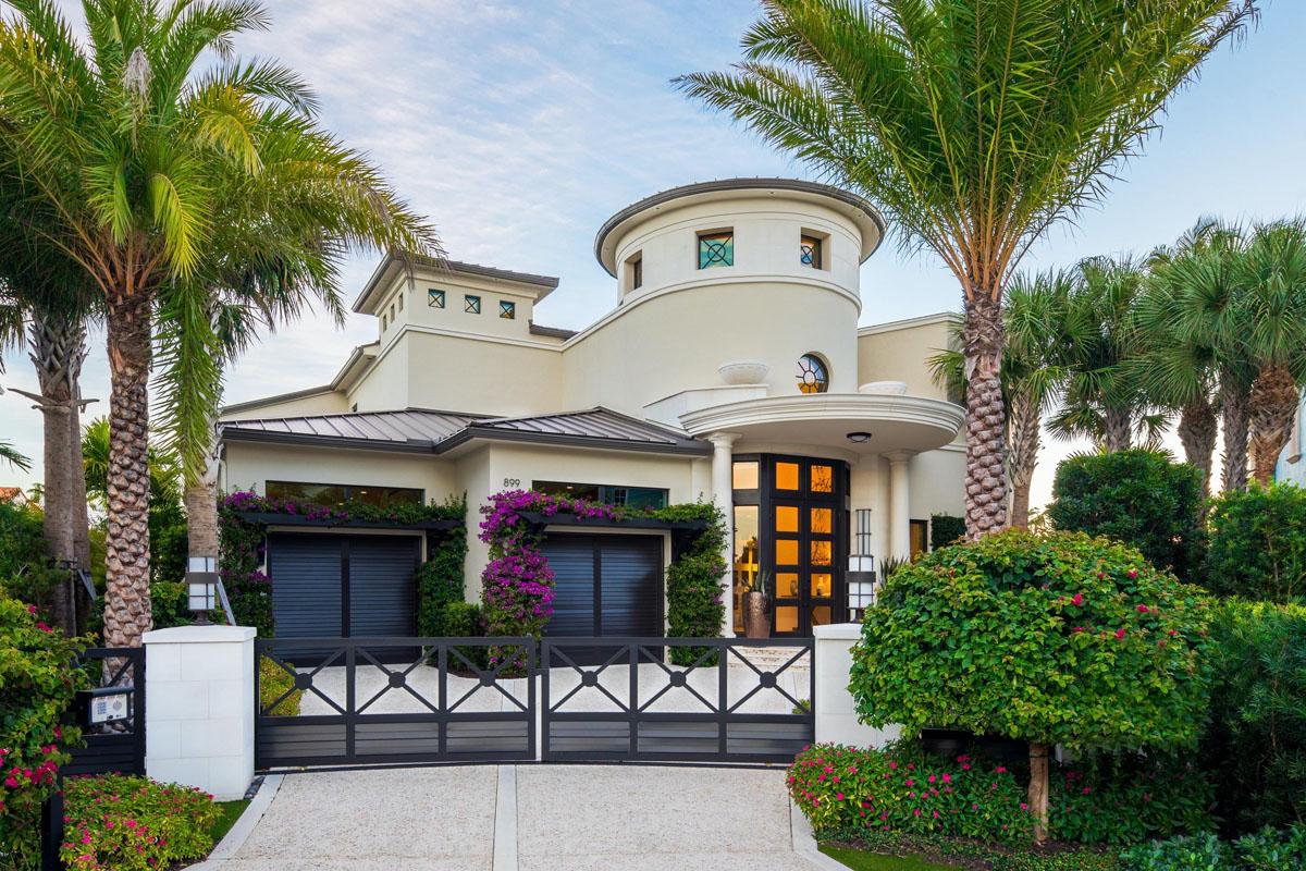 Intracoastal Canal Side Luxury Elegant Home Boca Raton