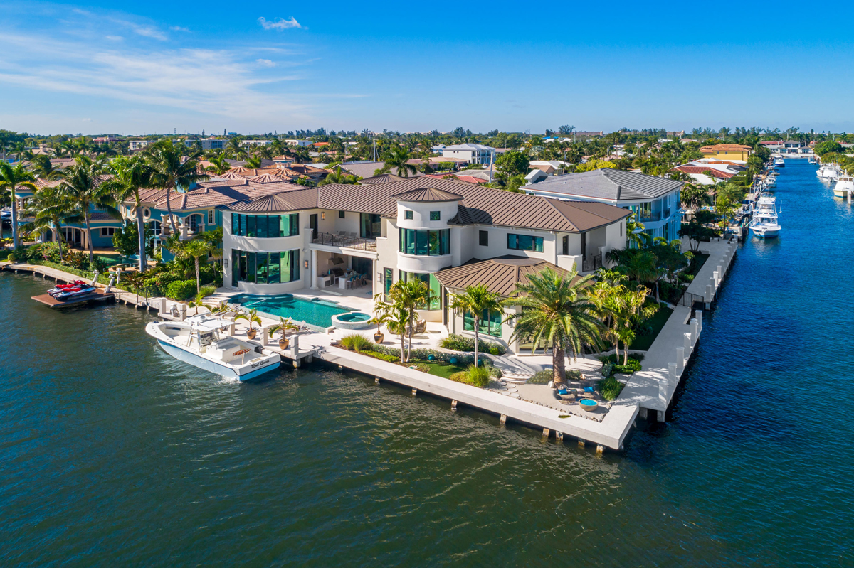 10 Million Dollar Waterfront Estate In Boca Raton With