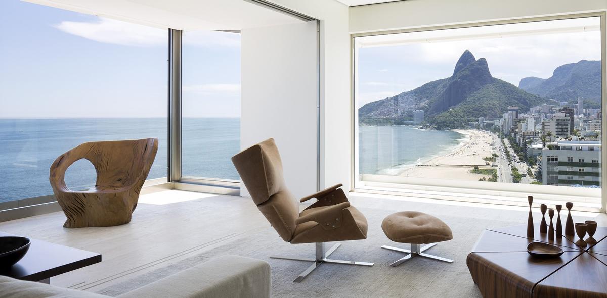 Minimalist Dream Apartment With Stunning Natural Landscape View Of Rio De Janeiro Idesignarch Interior Design Architecture Interior Decorating Emagazine