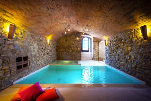 Indoor Stone Pool Spa