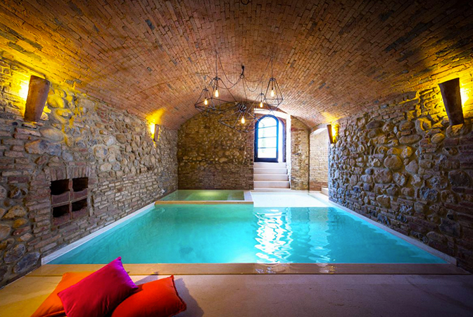 Indoor Stone Pool Spa