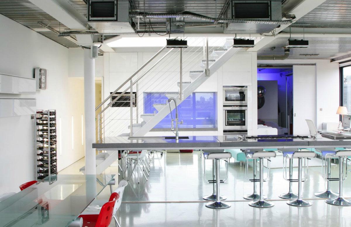 Modern Industrial Penthouse