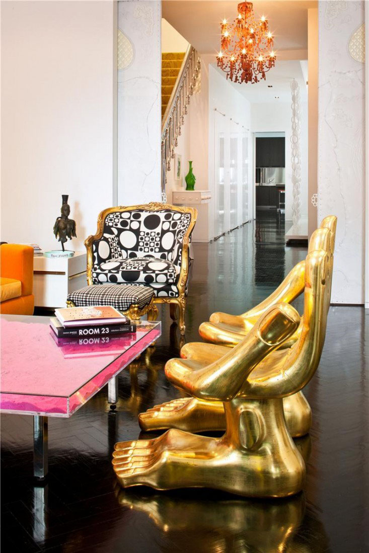 Jonathan Adler Interiors. Manhattan Triplex