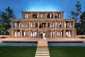 Japanese Inspired Wooden Doll House