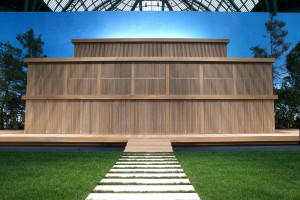 CHANEL Spring-Summer 2016 Haute Couture Show Wooden Set Design
