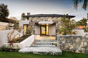 Modern Home Design with Stone Facade