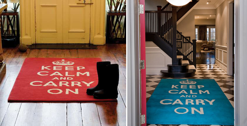 keep calm and carry on rugs