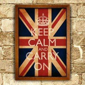 keep calm and carry on union jack