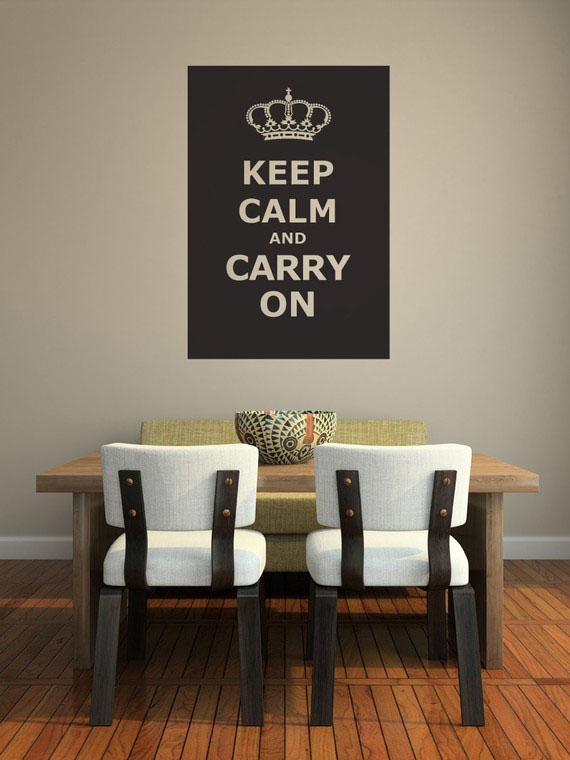 keep calm and carry on wall decor