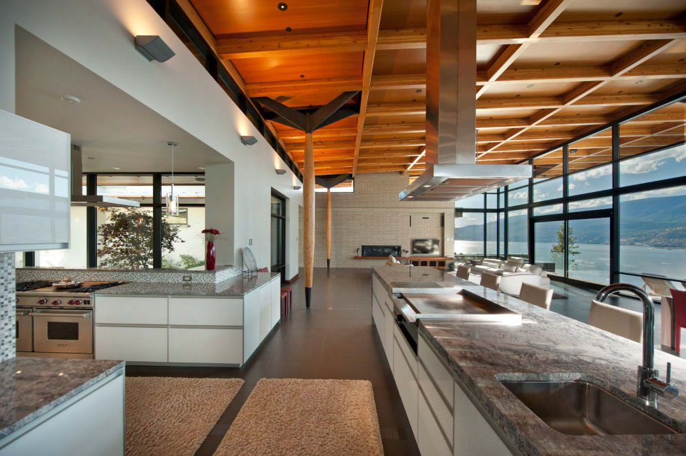 Kelowna Contemporary House On Okanagan Lake | iDesignArch ...