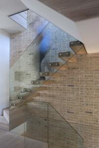 Elegant Glass Staircase