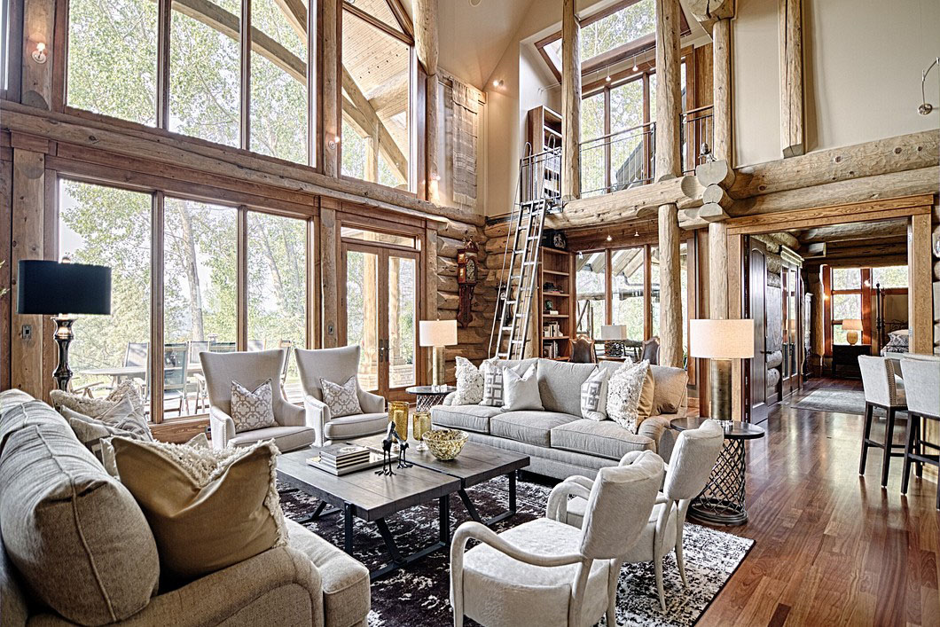 Luxury Log Home Interior Design