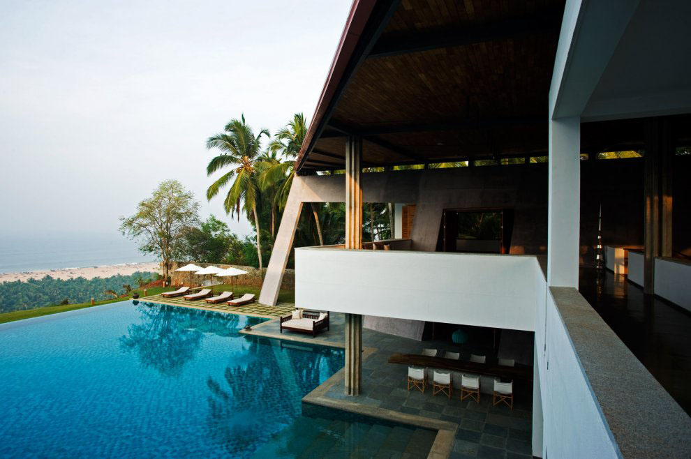 The Cliff House In South India With View Of The Arabian