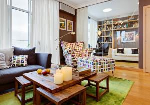 Chic Armchair Sofa Highlights Living Room