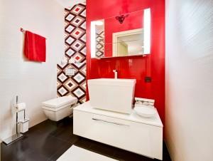 Red Modern Bathroom Design