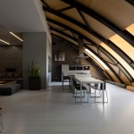 Industrial Space With Arc Roof Transformed Into Sophisticated Modern Loft
