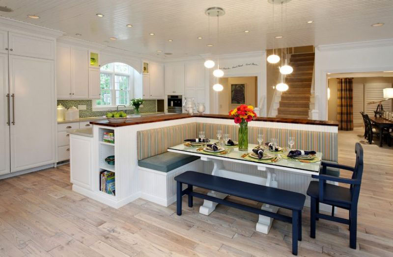 Elegant Kitchen Bench Seating Area