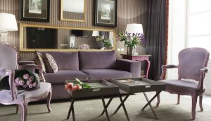 Purple Theme Living Room