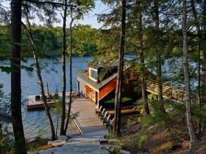 Lakeside Boathouse Muskoka