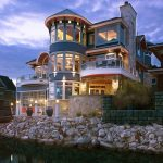 Harborside Residence with Boat Shelter Overlooking Lake Michigan