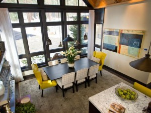 Modern Mountain Chalet Dining Room
