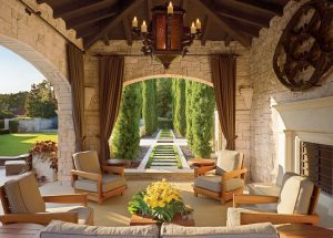 Gothic-Style Spanish-Colonial Terrace