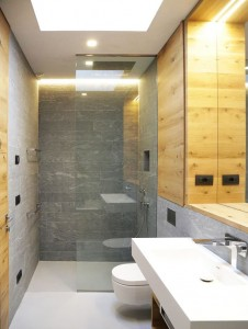 Modern Bathroom with Natural Stone