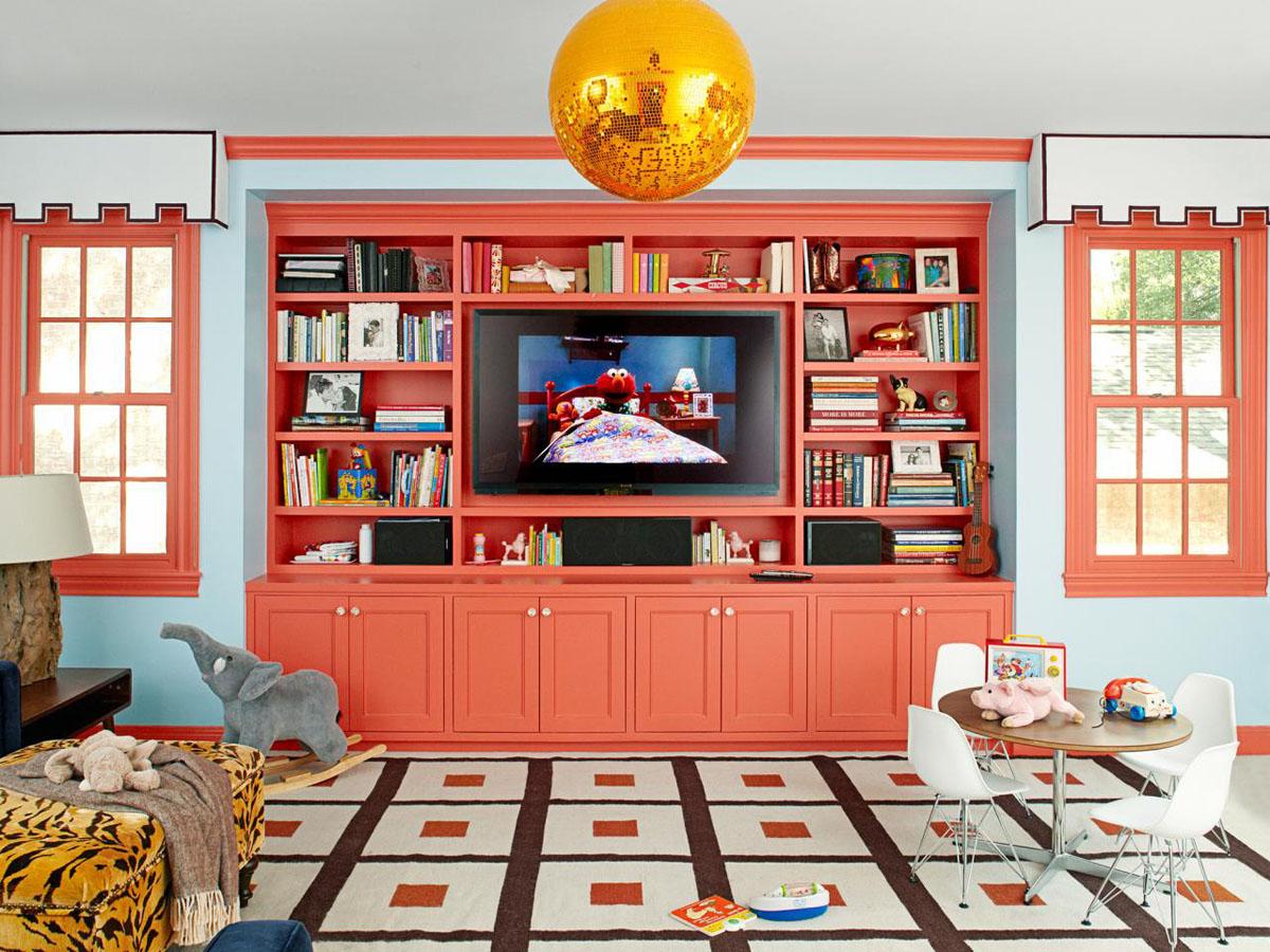 Living Coral Color Interior Decor 1
