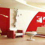 Red Living Room Design Ideas