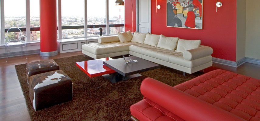 Attrayant These Living Room Designs Give You Some Ideas On How To Use Red Effectively.