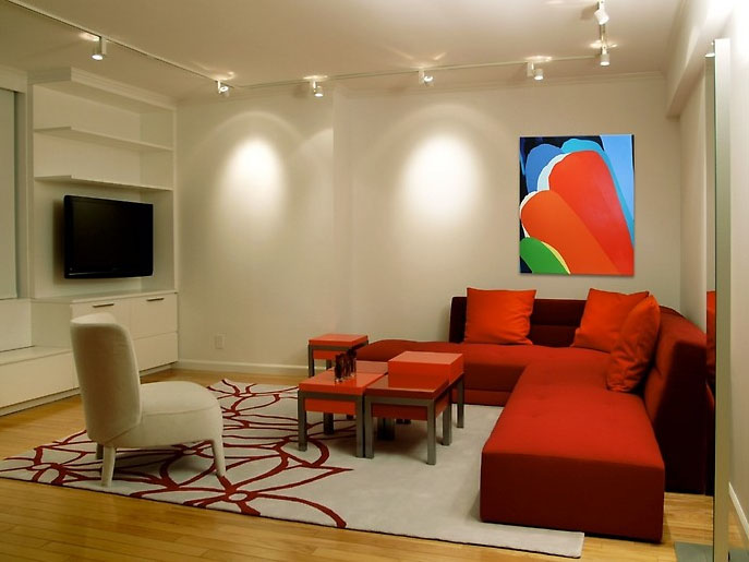 red and white style interior living room design | Red Living Room Design Ideas | iDesignArch | Interior ...