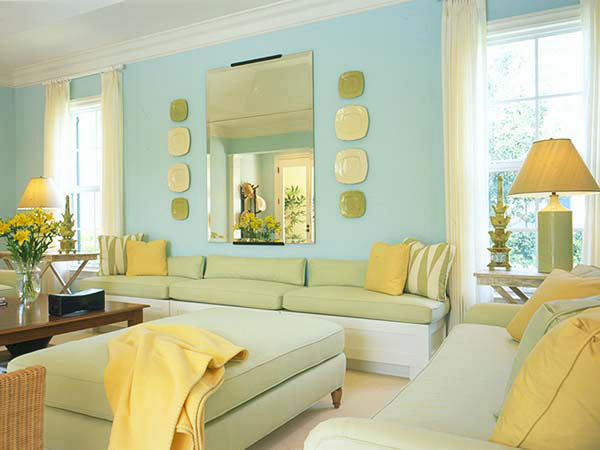 how to use yellow to highlight your living room
