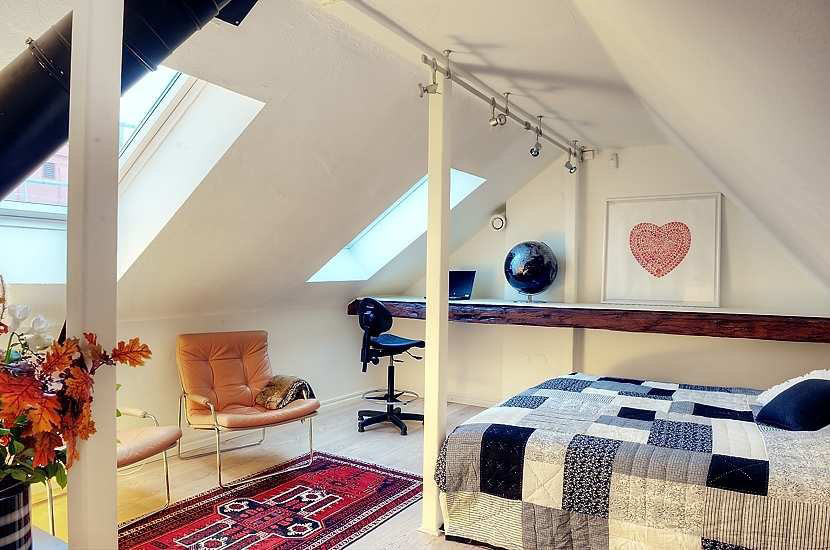 Attractive Loft Apartment With Exposed Beams Idesignarch