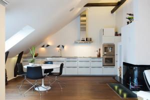 Attic Loft Modern Kitchen