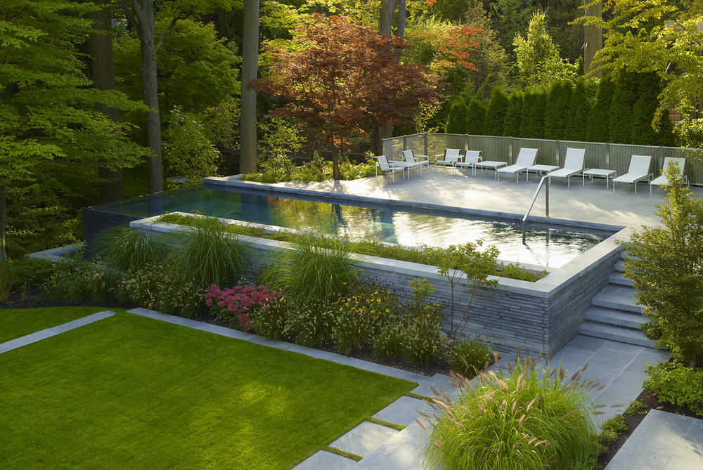 Elegant Luxury Homes Landscaping Offers Peaceful Urban Living Idesignarch Interior Design Architecture Interior Decorating Emagazine