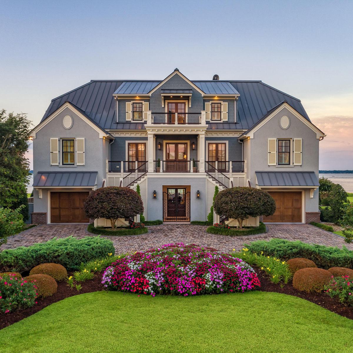 Elegant Waterfront Beach Mansion In