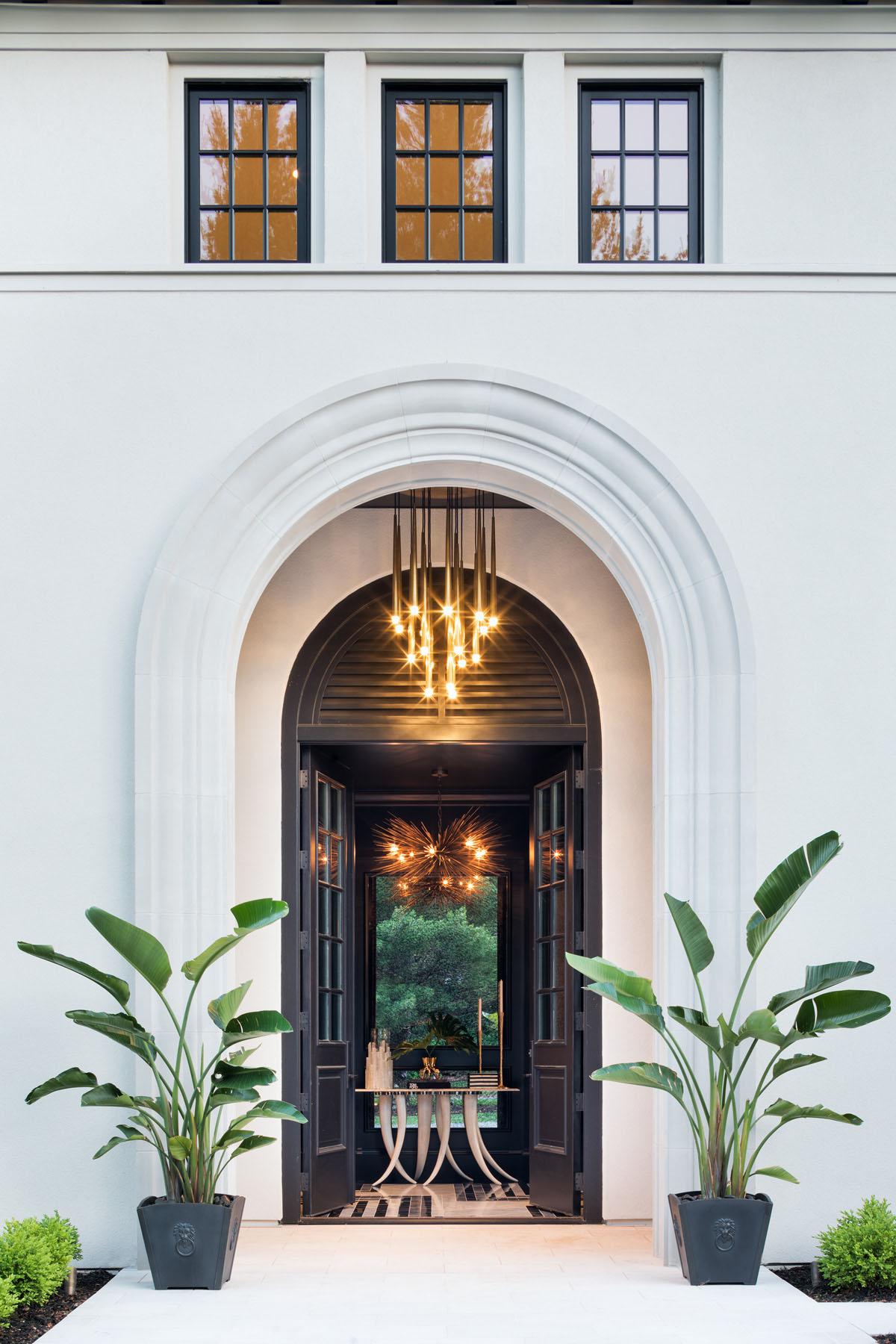 Luxury Home Classic Arch Front Doorway