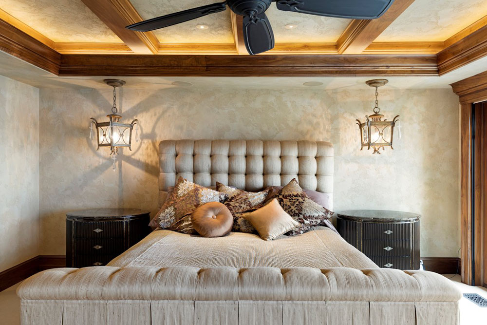 Luxury Master Bedroom with Ceiling Fan