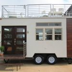 Experience the Ultimate Glamping in a Hybrid Tiny House Trailer with Rooftop Patio