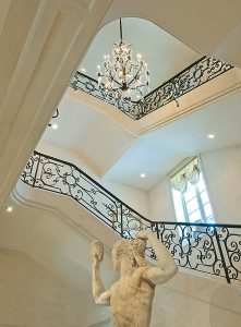 Neoclassical Style Limestone Staircase