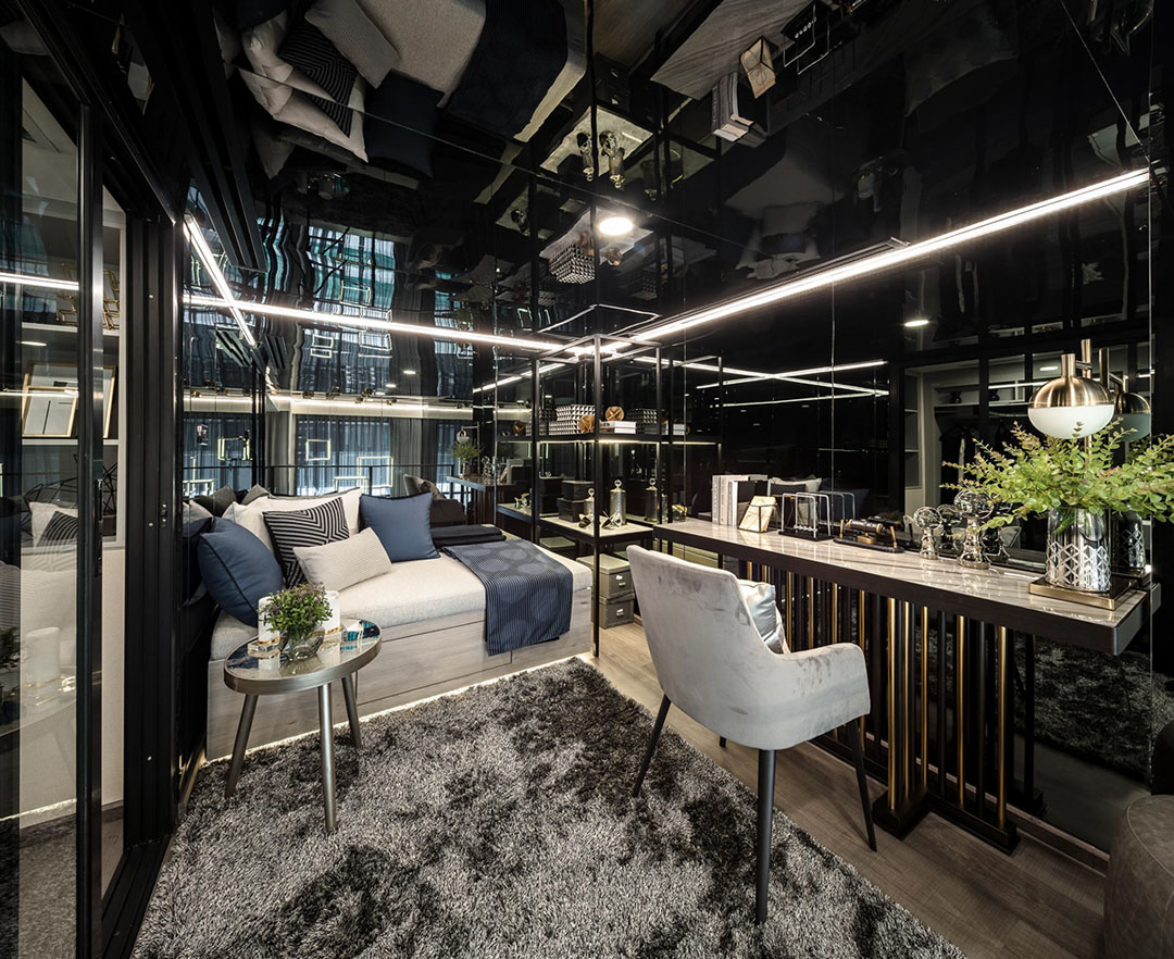 Luxurious Compact Modern Condo Apartment With Double Height Ceiling Idesignarch Interior Design Architecture Interior Decorating Emagazine