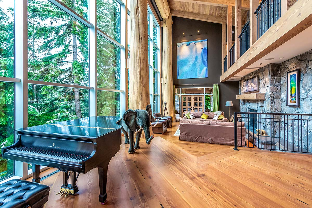 Spectacular Whistler Cedar Log And Stone Mountain Chalet