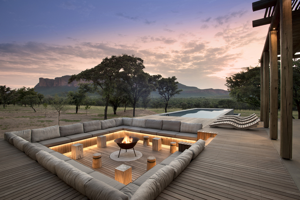 Cozy Firepit in African Wilderness