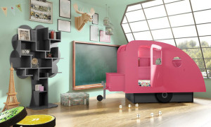 Pink Bed for Kids Room