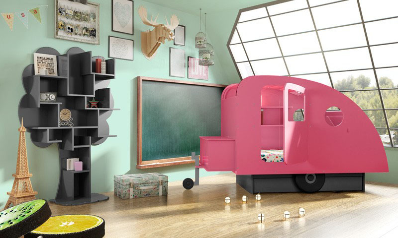 Caravan And Tent Camping Themed Beds For Kids Idesignarch Interior