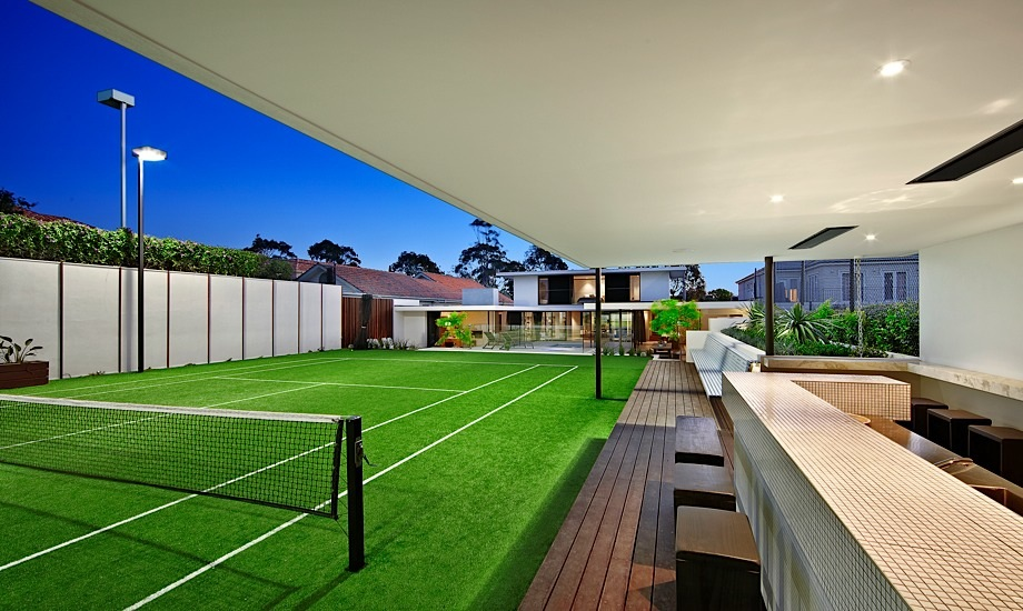 Astroturf Tennis Court